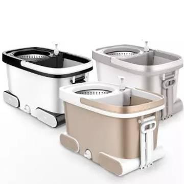 360 Degree Floor Magic Rotating Mop Bucket Set with 2 Micro fibre Mop