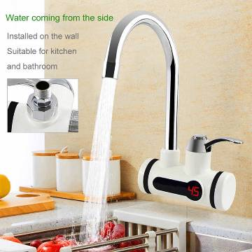 Digital Electric Hot Water Tap for any Basin Mount with LED Display