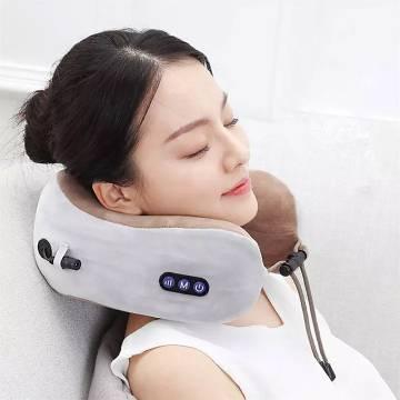 Electric U-shaped massage pillow multi-function shoulder