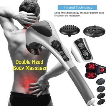 Double Head Full Body Massager Machine Variable Speed