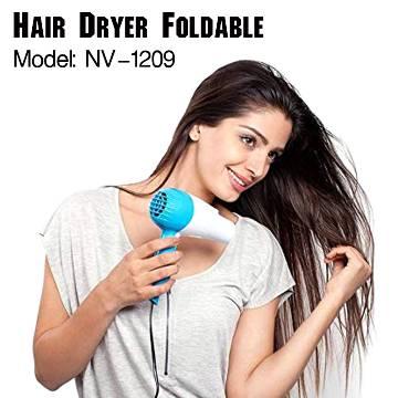 Nova Nv-1290 1000 Watt Foldable Hair Dryer-White and Pink