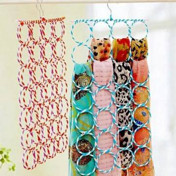 28 Section Scarf Holders-Multicolor