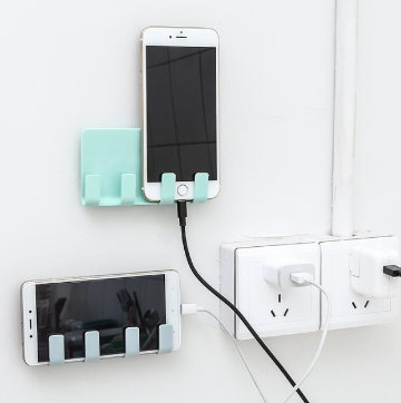 Mobile Phone Holders Phone Charger Wall Mounted 4 Hooks