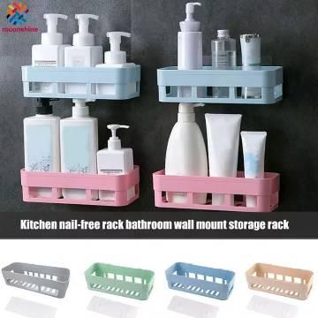 Plastic Bathroom Kitchen Corner Storage Rack Organizer Shower Shelf 1Pcs