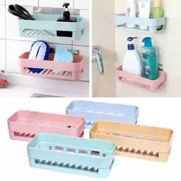 Plastic Bathroom Shelves Storage Shelf Organization Rack Basket