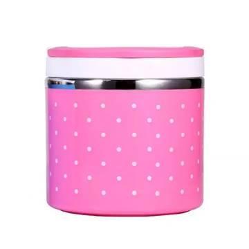 Steel 1 Layer Lunch Box (Multicolor)