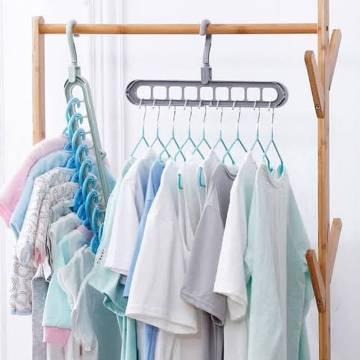 Multi-Function Folding Magic Cloth Hanger Wardrobe Space Saver Folding Hangers