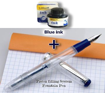 Fountain pen Dollar Gift item and Free Blue ink