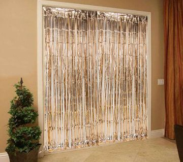 Foil Curtain for Decoration - Golden