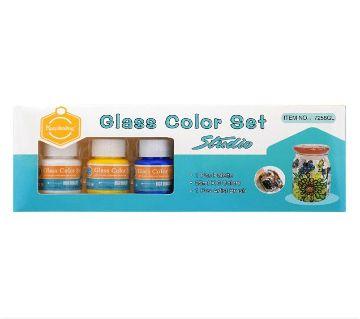 Keep Smiling Glass Color Studio Set of 6 Color 25ml +Free Brush