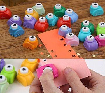 Mini DIY Assorted Paper Punching Machines Set of 12pcs Craft Punch Model:821-12
