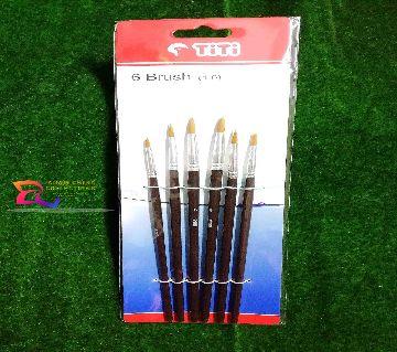 TiTi Artist 6 Flat Brush (1-6)