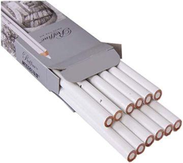 12pcs Marco Raffine 7012 Professional Drawing Sketch Pastel Art White Pencil