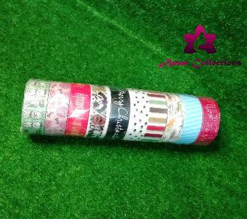 Printed Colorful Washi Tape Adhesive Sticky Paper Masking Tape Craft Decor 10pcs