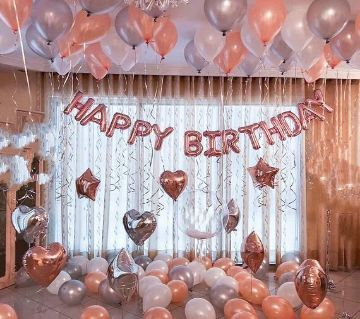 Rose Gold Happy Birthday Decoration