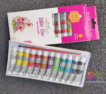 Multi Colors Keep Smiling Water Colors Set 12 Pieces(null).