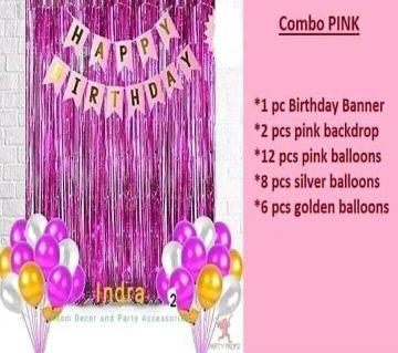 Happy Birthday Combo Pink