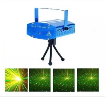 Mini Holographic LASER Star Projector Stage Point Pattern Lighting Music and Auto-Mode Sound Activated
