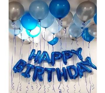 Blue Birthday Decoration Set-001