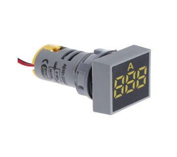 Digital Ammeter 22MM 0-100A Current Meter Indicator Led Lamp Square Signal Light
