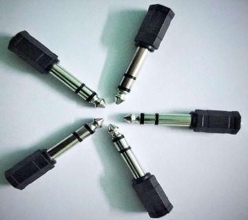 3.5mm (3.5 mm) MONO Socket to 6.35mm Stereo Jack Converter Adapter- 5pcs