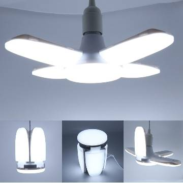 LED Bulb Foldable 3 Fan Blade Lights 60W