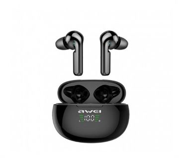 Awei T15P True TWS Bluetooth Smart Touch Sports Dual Earbuds With Charging Case Black