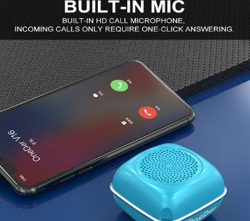OneDer V16 Mini Portable Intelligent Wireless Bluetooth Speaker With Built-In Microphone