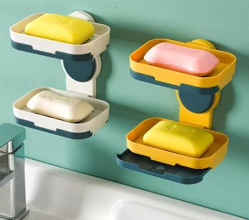 Double Layer Soap Holder Tray