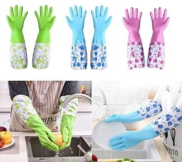 Long Silicone Kitchen Hand Gloves