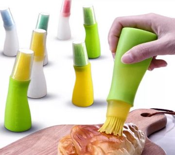 Silicone Oil Bottle With Brush Random 1 Piece