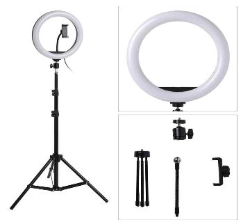 Ring Light 26CM/10Inch LED with fill Ring Light Tripod Stand 2.1 meter/6.7Foot For Studio SET/YouTuber /Tik-Tok/Likes video/ Makeup Photography/Facebo