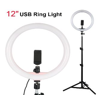 Selfie Ring Light with Tripod 12 Inch Ring Lamp With Light Stand Photo Video Camera Phone Fill Ringlight for Cell Phone for Makeup Live