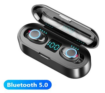 F9 TWS Bluetooth 5.0 Stereo Wireless Earphones Sport Headset with Charge Box