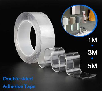 2M-Nano Magic Double Side Adhesive Tape 2CM Wide Reusable Clear Waterproof Anti-Slip Traceless Sticky Gel Pad Strips Grip