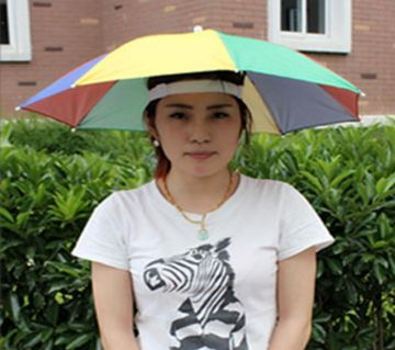 Head Umbrella Hat for Kids and Adults, Hands Free Umbrella Clear for Rain Sunny  Golf