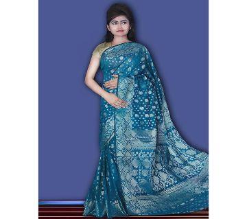 Jamdani Half Silk 12 Haat Sharee Without Blouse Piece For Womens