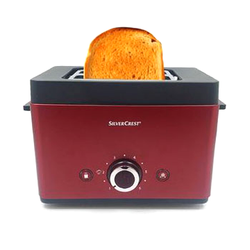 Silver Crest Toaster - Maroon and Black