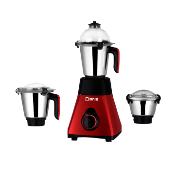 Disnie Elegant 3 In 1 Mixer Grinder and Blender - 1000W - Black and Red