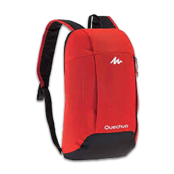 Nylon Regular Backpack - Red and Black