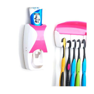 Toothbrush Holder & Automated Toothpaste Dispenser