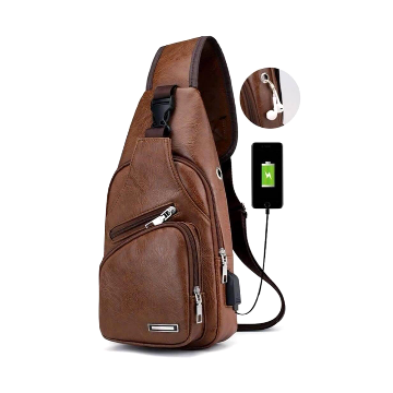Haodier Crossbody Backpack For Unisex - Chocolate