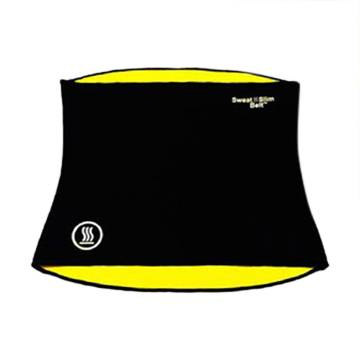 Sweat Slimming Belt - Black and Yellow