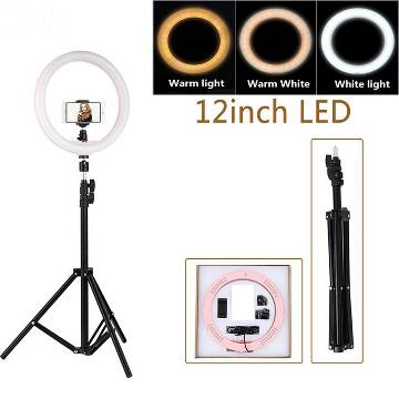 Selfie Ring Light With Tripod - 12 Inch