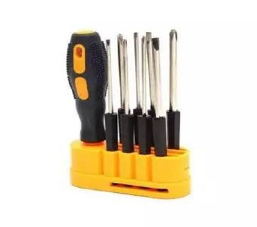 8 In 1 Screwdriver Set And Tools - Yellow And Black