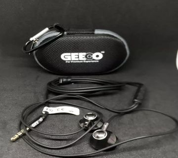 GEEOO X-12 Strong Bass IN-EAR HEADPHONE with bag and holder No Ratings