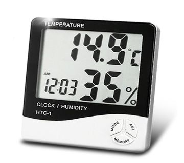 HTC-1 Digital LCD Electronic Alarm Clock Thermometer Hygrometer Weather Station Indoor Room Table clock HTC 1
