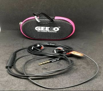 GEEOO X-11 Strong Bass IN-EAR HEADPHONE with bag and holder