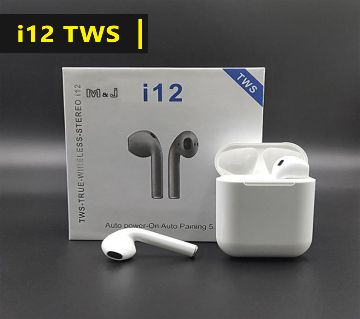 i12 Tws Headset Bluetooth 5.0 HIFI Sound Noise Cancelling Earphone