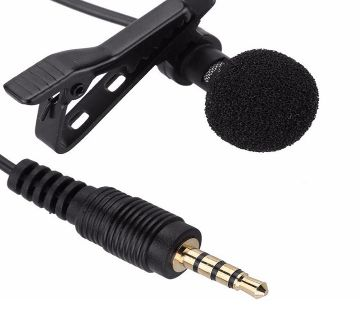 3.5 mm Jack Microphone Tie Clip-on Lapel Mic for Mobile Phone